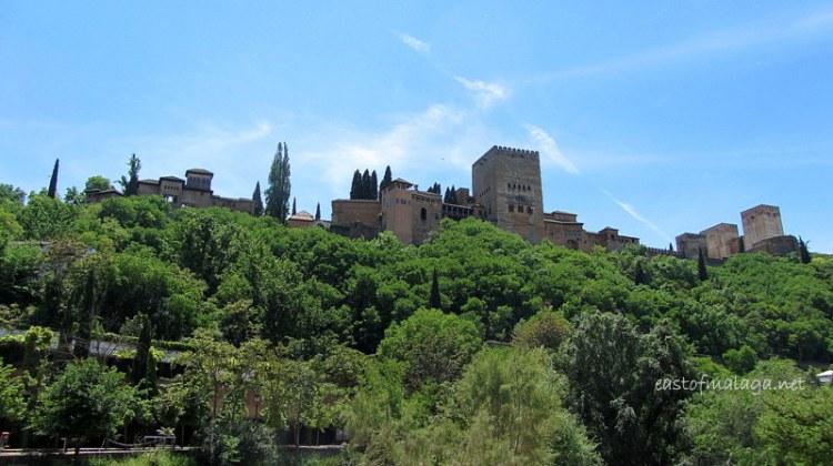 Alhambra from Paseo de Los Tristas