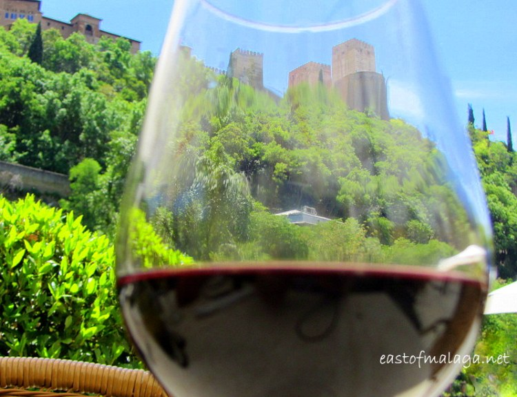 Alhambra through a wine glass