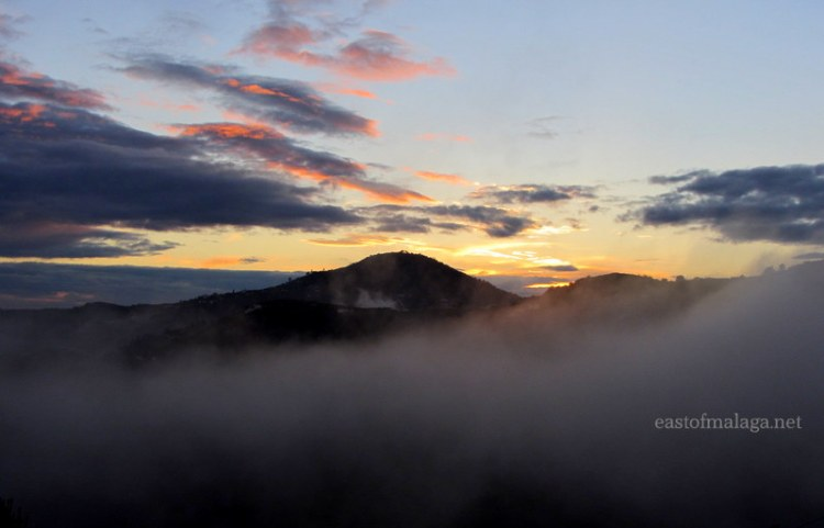 Mist across nearby hills