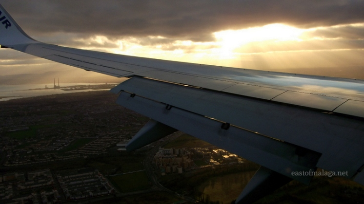 Coming into land at Dublin airport, Ireland