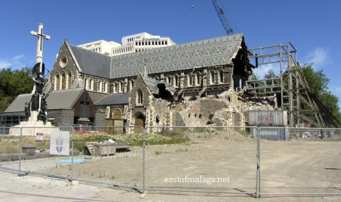 Christchurch cathedral, NZ, taken January 2013