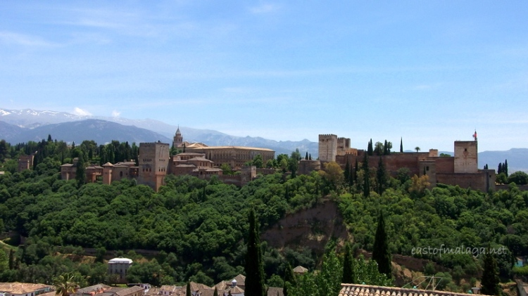The Alhambra viewed from Mirador Plaza San Nicolas