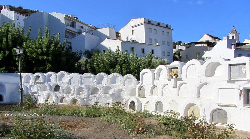 Honeycombe niches at the Round Cemetery, Sayalonga, Spain