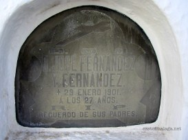 Grave at the Round Cemetery, Sayalonga, Spain