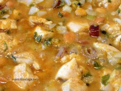 Moroccan chicken - Add the citrus juice to the pan