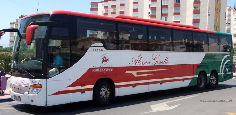 ALSA bus, east of Malaga