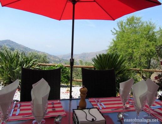 lunch on a shady terrace