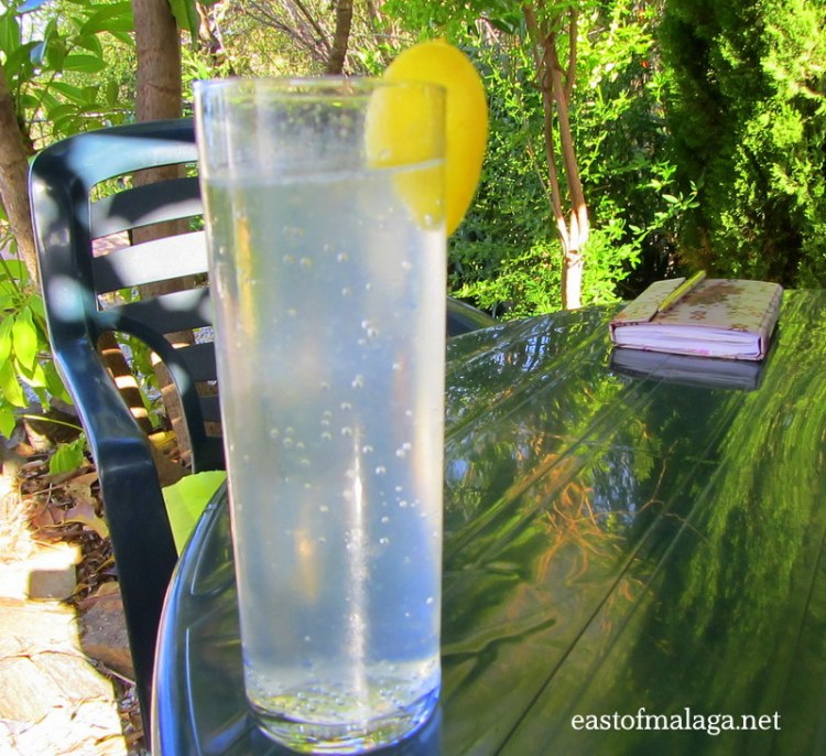 Sparkling water with fresh limequat