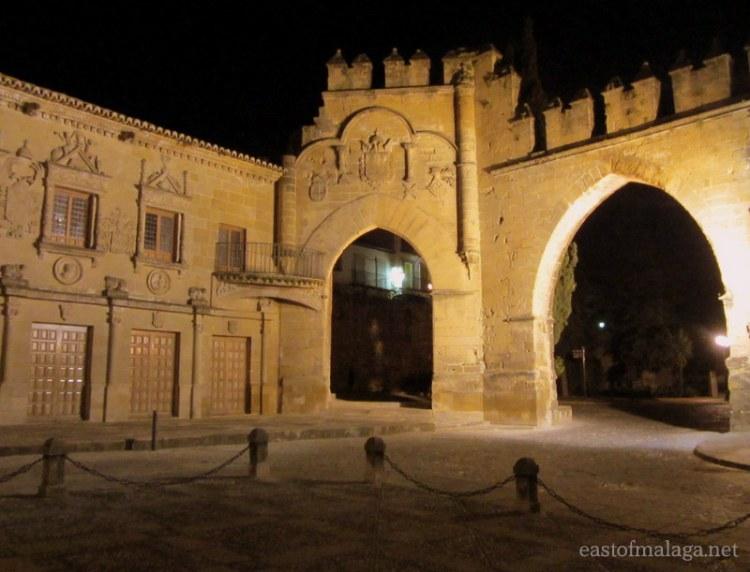 Archways through old city walls, Baeza