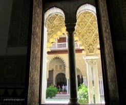 looking through the window arch, Alcazar, Seville