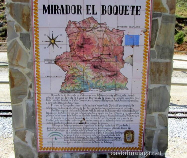 Mirador del Boquete, Zafarraya
