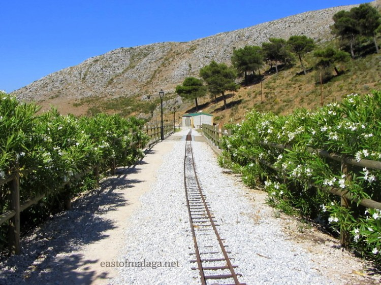 Narrow gauge line running towards Zafarraya, Spain