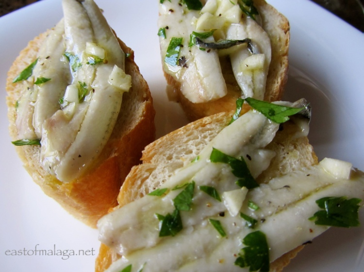 Tapas: Boquerones in vinegar