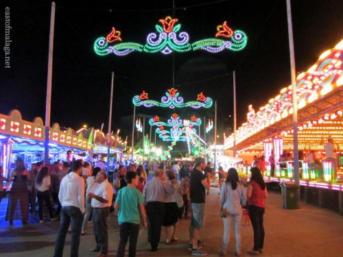 The bright lights of Torrox feria, Andalucia, Spain