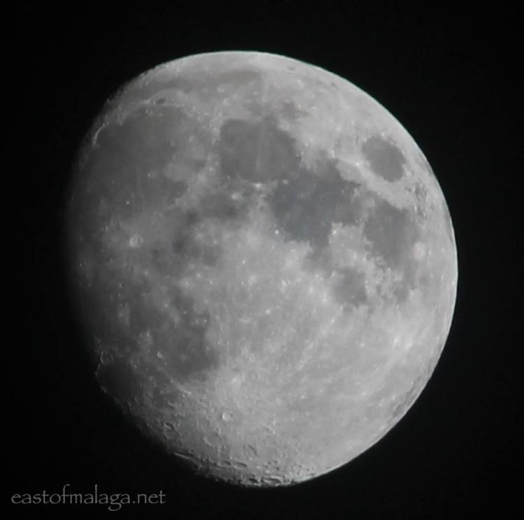 The moon shining bright