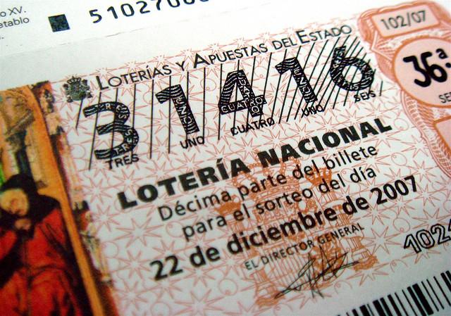 El Gordo lottey ticket