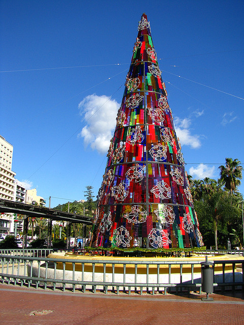 Abstract christmas tree in Malaga