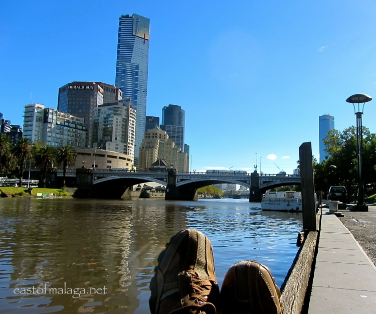 In my shoes - by the Yarra River, Melbourne