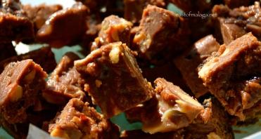 Chop the chocolate fudge into squares and ENJOY!