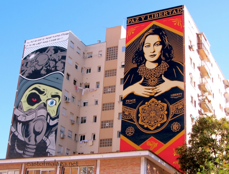 Street art in Malaga, Spain
