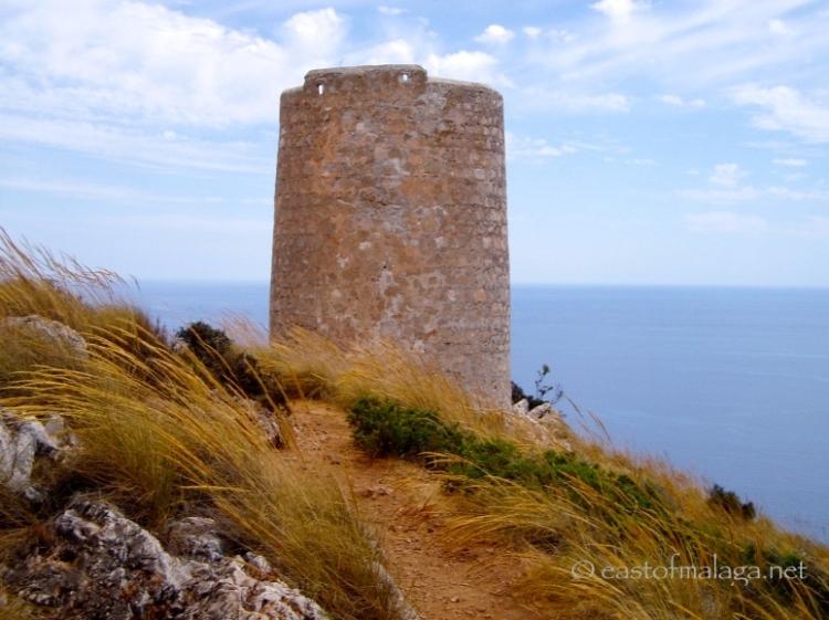 Ancient watchtower at Cerro Gordo, Spain