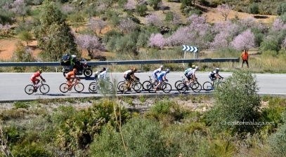 First group of riders in Vuelte a Andalucia, Spain