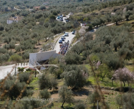 First view of the peleton, Axarquia