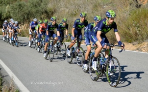 First riders in the group, Vuelta a Andalucia