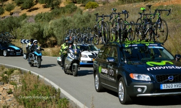 Support vehicles for the peleton, Vuelta a Andalucia