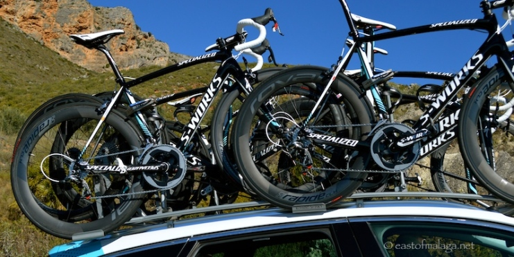 Spare bikes for the peleton, Vuelta a Andalucia