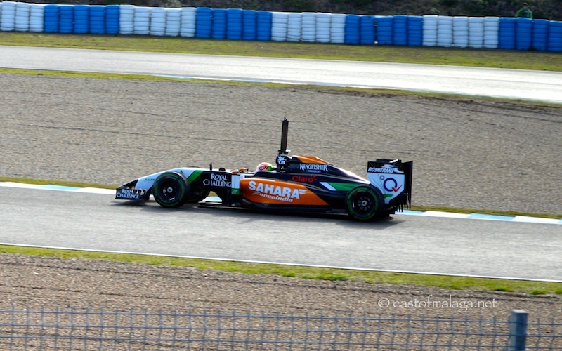 Force India at 2014 F1 Winter testing in Jerez, Spain