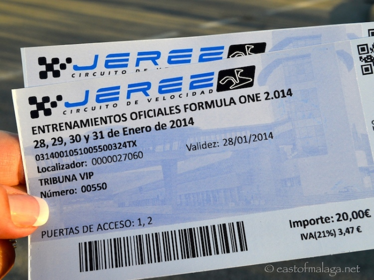 Tickets for F1 Winter Testing at Jerez, Spain