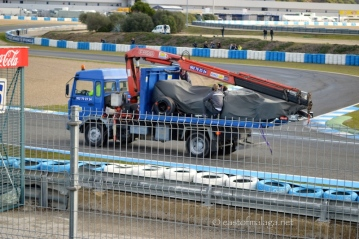 Tow-truck at Jerez F1 winter testing