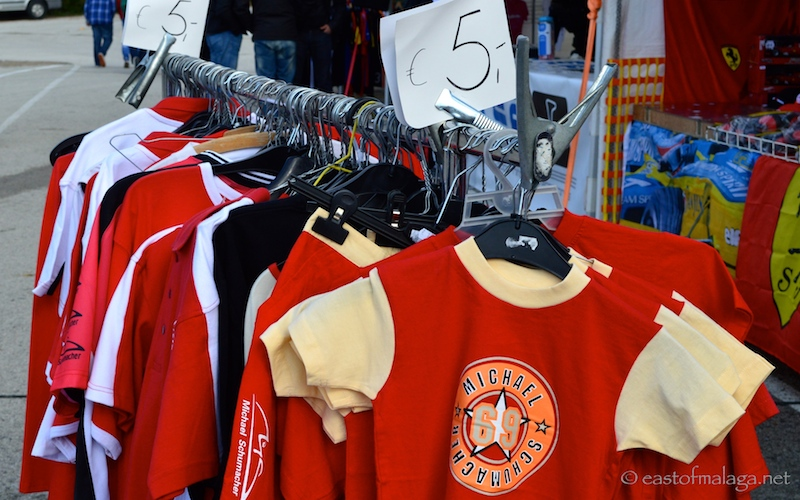 Schumacher clothing on sale at Jerez, Spain