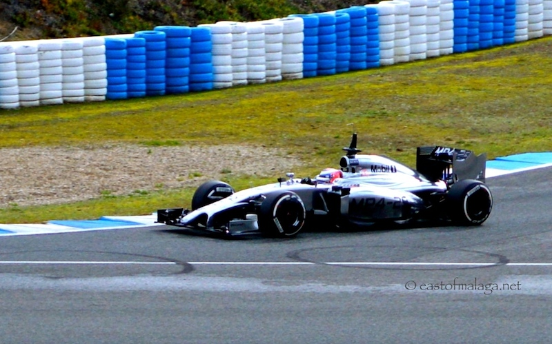 Jenson Button in the McLaren at winter testing, Jerez, Spain