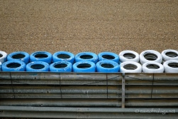 Tyre wall, barriers and gravel trap at Jerez, Spain