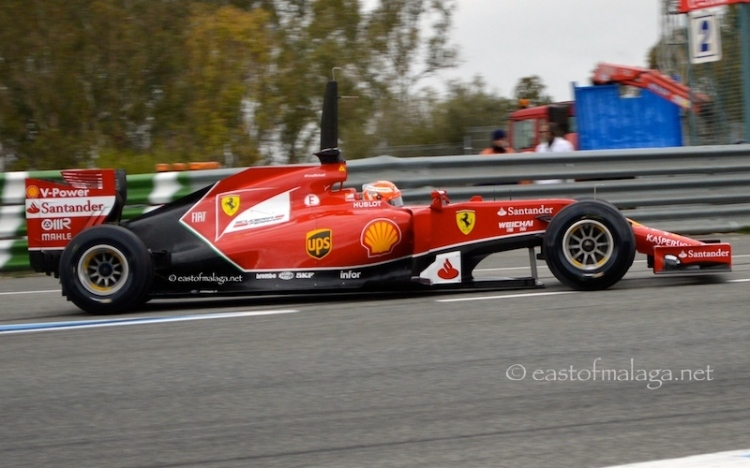 Kimi Raikkonen in the Ferrari at Jerez, Spain