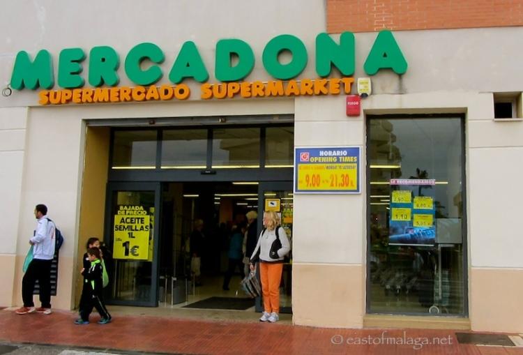 Mercadona supermarket, Spain