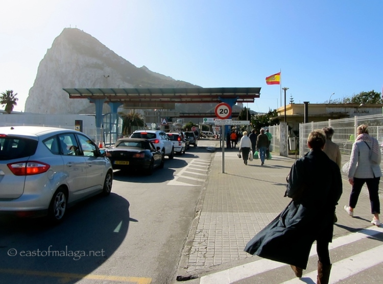 Border crossing from Spain to Gibraltar
