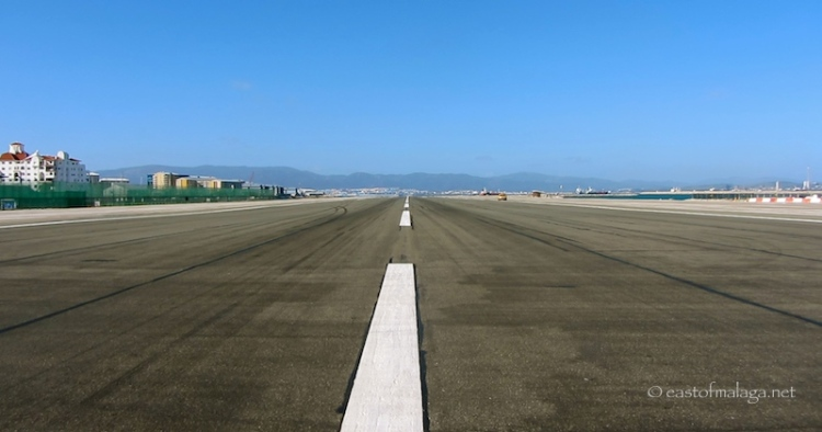 Walking across the runway in Gibraltar