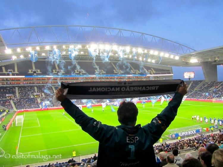Fan at FC Porto football ground, Portugal