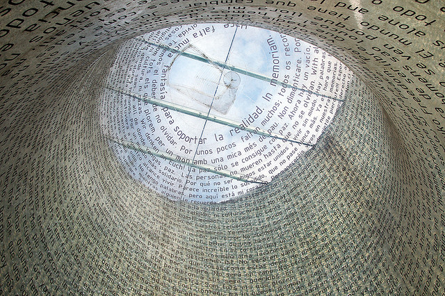 11-M Memorial inside Atocha railway station, Madrid