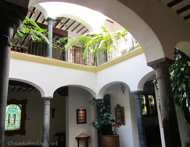 Glass museum, Malaga - inner courtyard