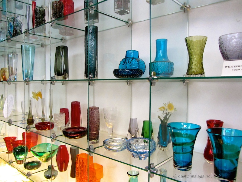 Glass on display at Glass and Crystal Museum, Malaga
