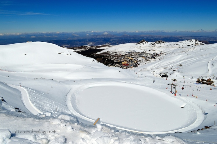 Above the ski village, Sierra Nevada, Spain