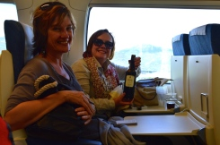 "Annie and Ali on the ""Sherry Express"""