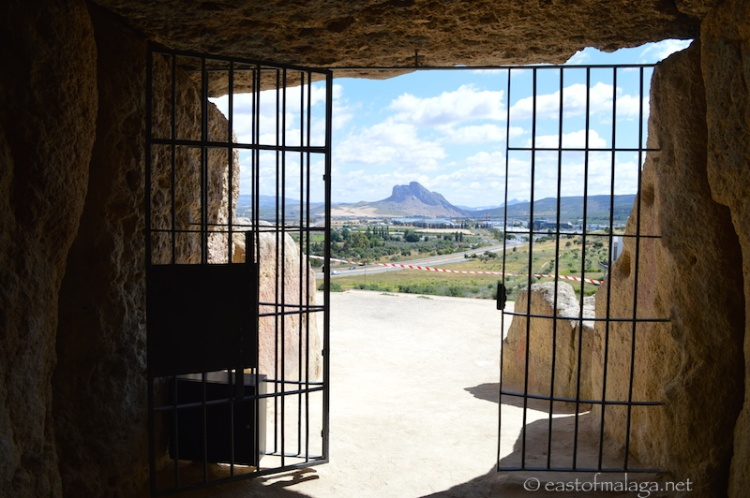 View from the Menga Dolmen, Antequera, Spain