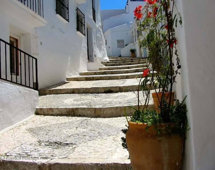 Taking the high road in Frigiliana , Spain