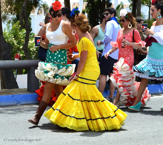 Spanish dresses - long and short, Nerja, Spain