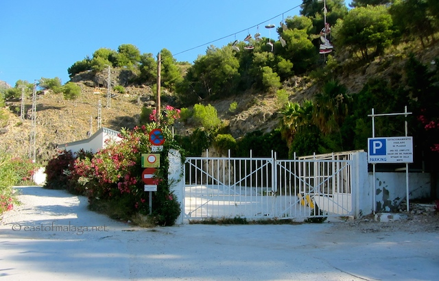 Official car park at Rio Chillar, Nerja